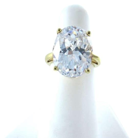 Vintage 14K YELLOW GOLD OVAL CRYSTAL WHITE STONE 10.1 GRAMS PRINCESS MYSTICAL STUNNING