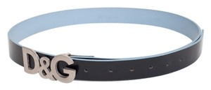 Dolce&Gabbana D & G Leather Belt With Gold Hardware