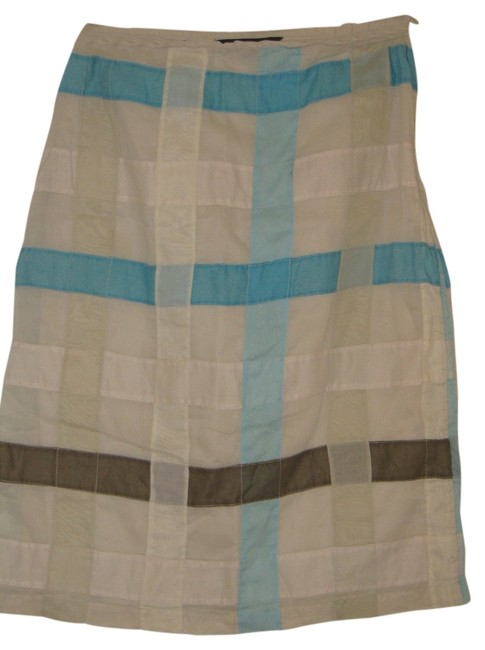 Preload https://item3.tradesy.com/images/french-connection-bluecreambrown-checkered-tanwhitebluebrown-knee-length-skirt-size-2-xs-26-3515467-0-0.jpg?width=400&height=650