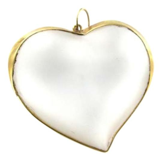 Vintage 14KT YELLOW GOLD PENDANT CHARM BIG HEART CRYSTAL 12.0DWT LOVE LUXURY JEWELRY