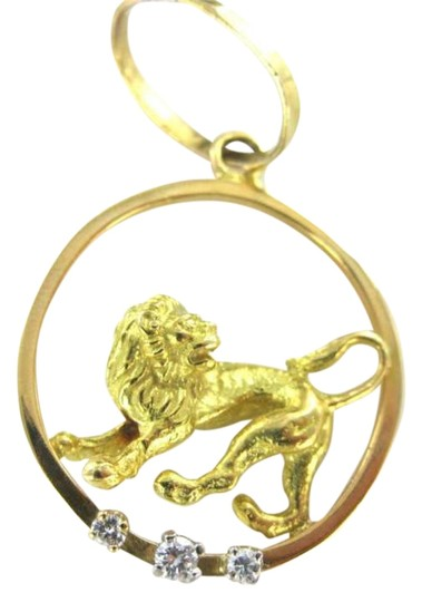 Preload https://img-static.tradesy.com/item/351554/yellow-gold-14kt-pendant-lion-3-diamond-3d-40dwt-charm-circle-animal-leo-zodiac-0-0-540-540.jpg