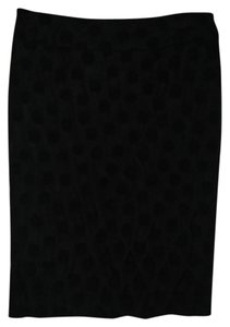Ann Taylor LOFT Polka Dot Skirt Black