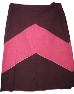 To the Max Corduroy Skirt Maroon and pink