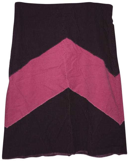Item - Maroon and Pink Corduroy Skirt Size 4 (S, 27)
