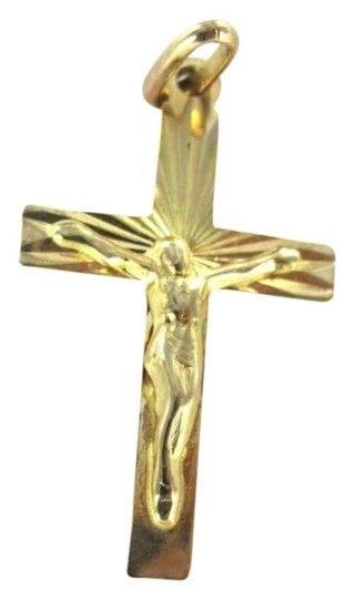 Preload https://img-static.tradesy.com/item/351584/yellow-gold-14kt-pendant-charm-cross-christian-crucifix-11-dwt-jesus-italy-inr-necklace-0-0-540-540.jpg