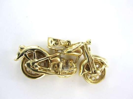 Vitage 14KT YELLOW GOLD PENDANT MOTORCYCLE BIKE PENDANT CHARM CHOPPER BIKER RIDE GIFT