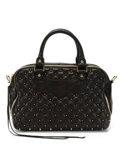 Rebecca Minkoff Studded Leather Tote in Black
