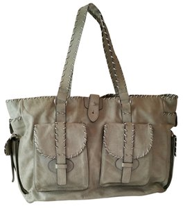 Leonello Borghi White Tote in distressed grey