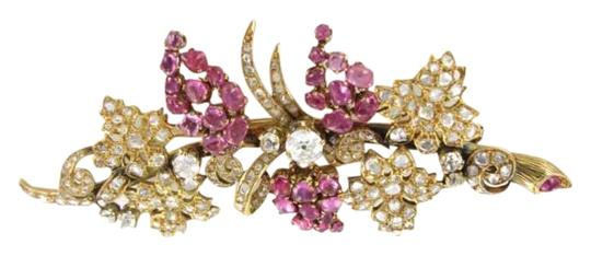 Preload https://item1.tradesy.com/images/yellow-gold-18kt-pin-brooch-diamond-ruby-217grams-flower-antique-grapes-351595-0-0.jpg?width=440&height=440