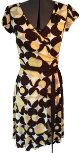 Bisou Bisou short dress yellow on Tradesy