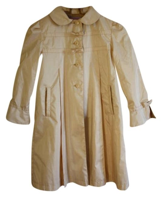 Item - Champagne Ivory Windbreaker Childrens Lined Bow Vintage Coat Size 6 (S)
