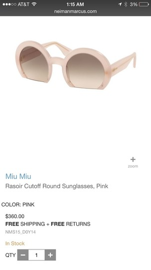 MM Couture Miu Miu Sunglasses. 2015