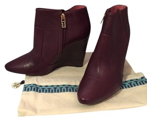 Tory Burch Wedge Ankle Boot dark purple Boots