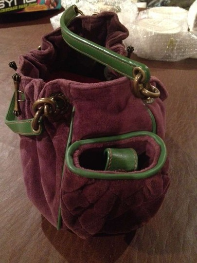 Juicy Couture Satchel in Purple and Green
