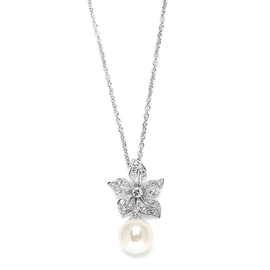 Preload https://item2.tradesy.com/images/mariell-silver-vintage-floral-pearl-drop-pendant-3640n-necklace-3516406-0-0.jpg?width=440&height=440