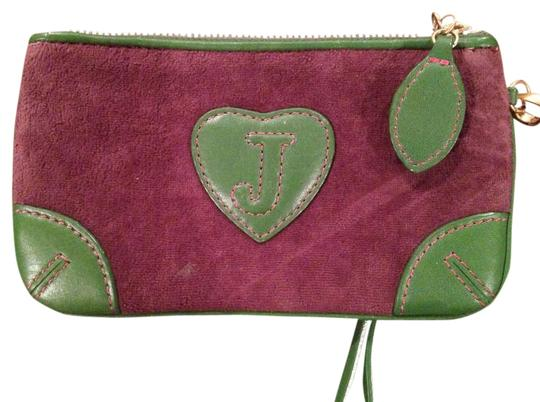Juicy Couture Wristlet in Purple and Green