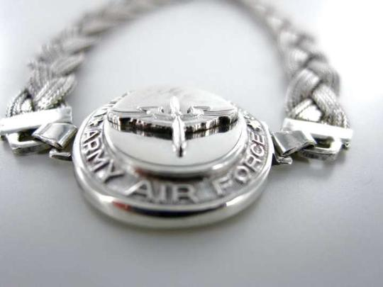 Vintage ANTIQUE WWII UNITED STATES ARMY AIRFORCE 925 STERLING SILVER SWEETHEART BRACELET
