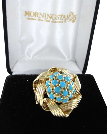 Preload https://img-static.tradesy.com/item/351651/yellow-gold-14k-pin-brooch-flower-turquoise-blue-stones-60dwt-retro-necklace-0-0-540-540.jpg
