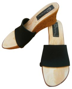 Onesole Interchangealbe Quick Change Artist Qca Wedge Soft Step Size 10 Black/Cork Sandals