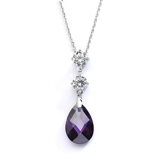 Preload https://item5.tradesy.com/images/mariell-silveramethyst-cz-or-bridesmaids-pendant-with-crystal-drop-4078n-am-necklace-3516679-0-0.jpg?width=440&height=440