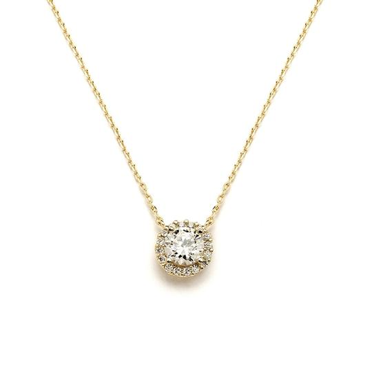 Preload https://item4.tradesy.com/images/mariell-gold-delicate-cubic-zirconia-pave-4095n-necklace-3516793-0-0.jpg?width=440&height=440
