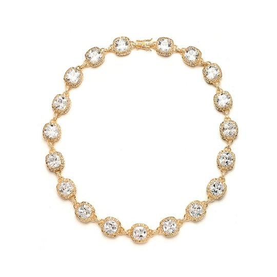 Mariell Gold Best Selling Pageant with Cushion Cut Cz 4069n-g Necklace