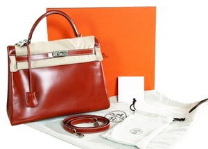 Hermès Hermes Kelly Box Satchel in Red
