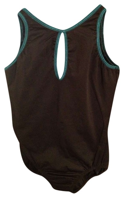 Trienawear Black with Teal Accents Leotard