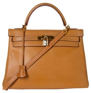 Hermès Hermes Kelly Togo Satchel in Gold