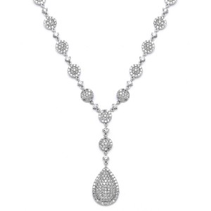 Mariell Luxurious Pave Cz Wedding Necklace 4197n