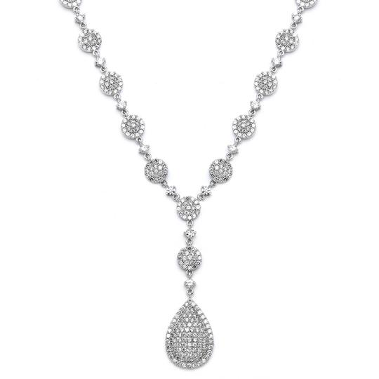 Preload https://img-static.tradesy.com/item/3517363/mariell-silver-luxurious-pave-cz-4197n-necklace-0-0-540-540.jpg
