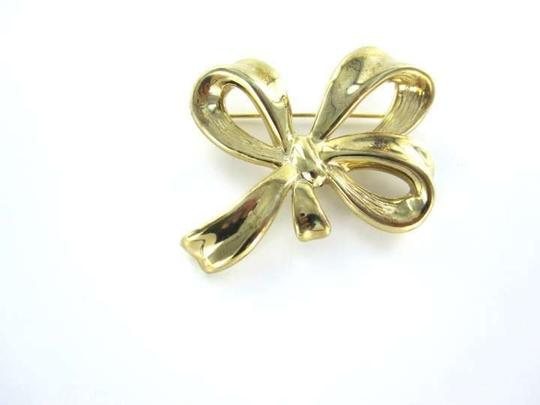 Vintage 14KT YELLOW GOLD PIN BROOCH BOW 3.7DWT CARLA DESIGNER VINTAGE ANTIQUE JEWELRY
