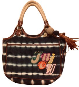 Juicy Couture Tote in Navy blue and white