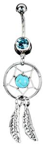 Crystal Gem Dream Catcher Belly Ring