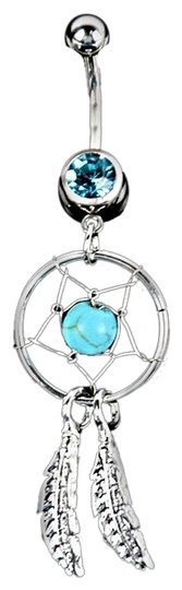 Preload https://item5.tradesy.com/images/silver-blue-crystal-gem-dream-catcher-belly-ring-3517999-0-0.jpg?width=440&height=440
