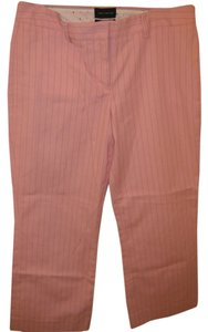 The Limited Capris Pink w/pinstripes