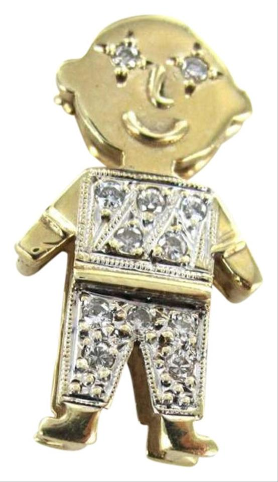 jewelry gift boy necklace pendant solid charm kids gold pin for little yellow
