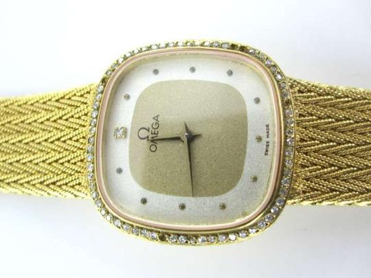 Omega OMEGA 18KT YELLOW GOLD WATCH 18K DIAMOND VINTAGE COLLECTOR 29.8DWT QUARTZ 1365
