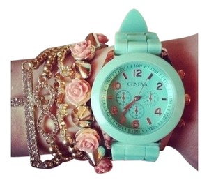 Geneva BEAUTIFUL TEAL COLOR QUARTZ WATCH UNISEX