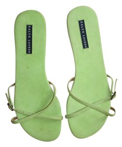 Ralph Lauren Collection Suede Lime Sandals