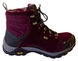 Ahnu Waterproof Hiking Wine Purple Boots