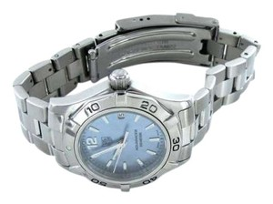 Vintage LADIES TAG HEUER AQUARACER 300 METERS BLUE MOTHER PEARL WAF1417 DATE WOMAN CHRON