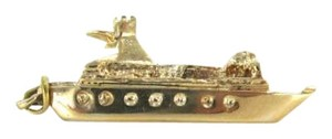 Vintage 14KT YELLOW GOLD PENDANT CRUISE BOAT SHIP SOLID 2.4DWT CHARM MARINE FINE JEWEL