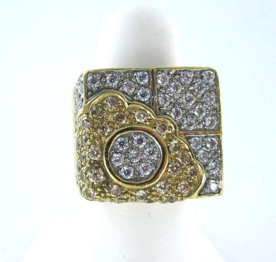 Other ELINI DESIGNER 14KT YELLOW GOLD RING FLOWER FINE JEWELRY COCKTAIL 11GR SIGN SZ6