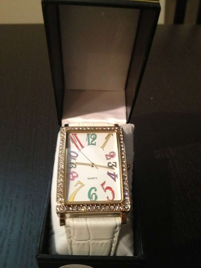Other White Watch with Fun Colorful Numbers