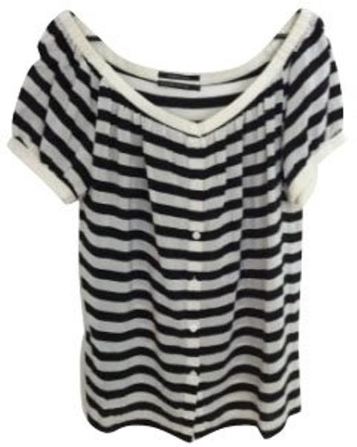 Preload https://item3.tradesy.com/images/club-monaco-black-and-white-blouse-size-4-s-352-0-0.jpg?width=400&height=650