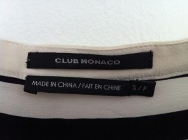 Club Monaco Top Black and white