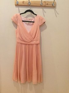 J.Crew Misty Rose Silk Chiffon Arabelle Feminine Bridesmaid/Mob Dress Size 6 (S)