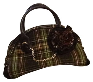 Juicy Couture Plaid Satchel in Tweed