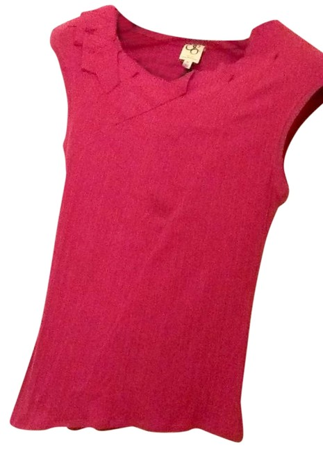 One September Anthropologie Anthro Magenta Top